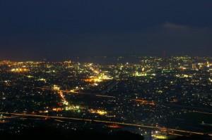 静岡市清水区山原の夜景