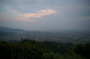 静岡市清水区山原で夜景撮影準備