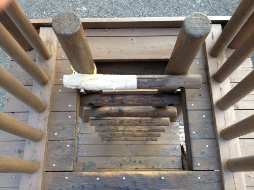 清水市船越堤公園アスレチックの梯子